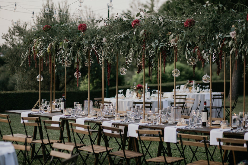 allestimento tavolo imperiale matrimonio