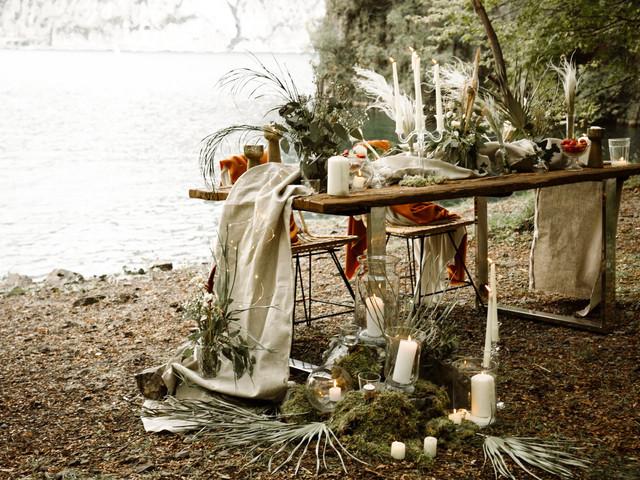5 idee da copiare dai tavoli nuziali per una romantica cena a due
