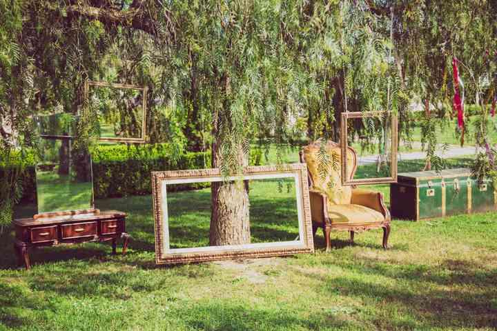 allestimento matrimonio in giardino