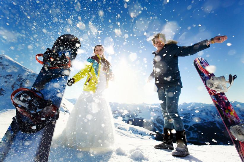 sposi sulla neve