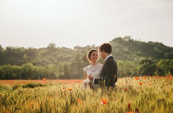 I campi di fiori più belli per lo shooting prematrimoniale