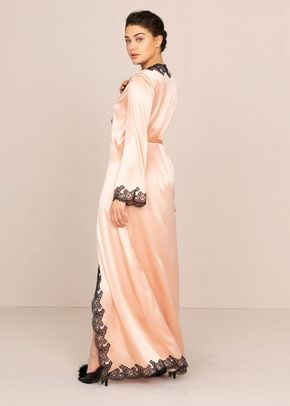 Amelea Long Gown Pink and Black, Agent Provocateur