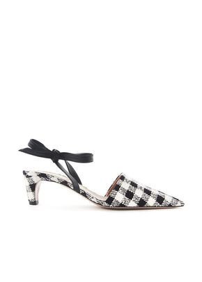 GINGHAM BOW MULES, 246