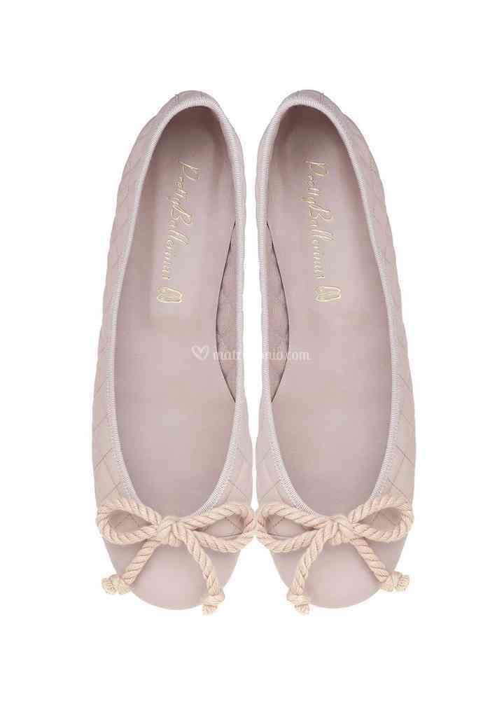 Rosario pink quilted, Pretty Ballerinas
