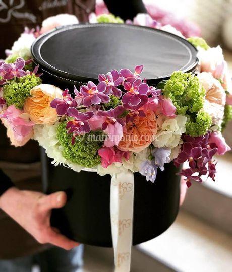 Flower box di ecopelle