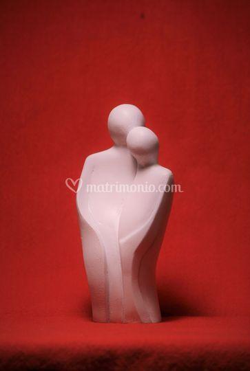 Scultura resina ceramica 16 cm