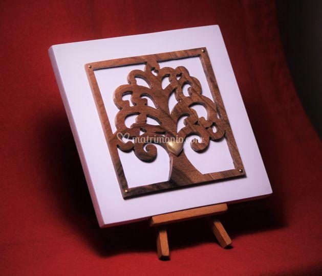 Albero della vita cm 15x legno