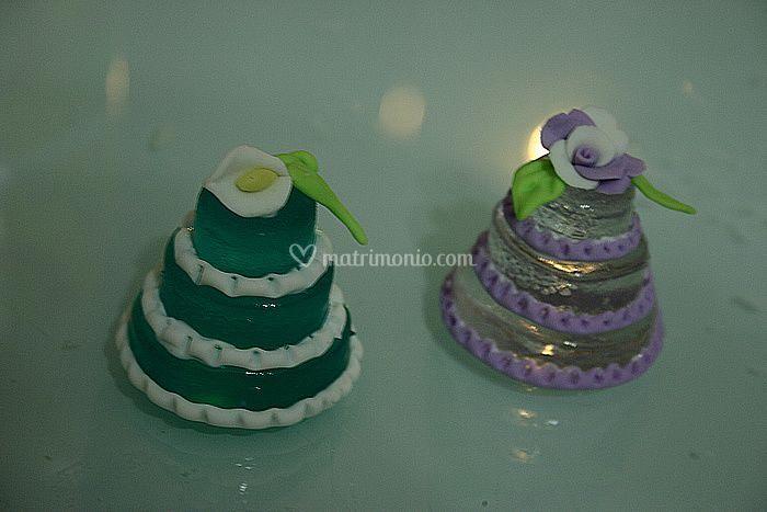 Mini cake effetto ghiaccio