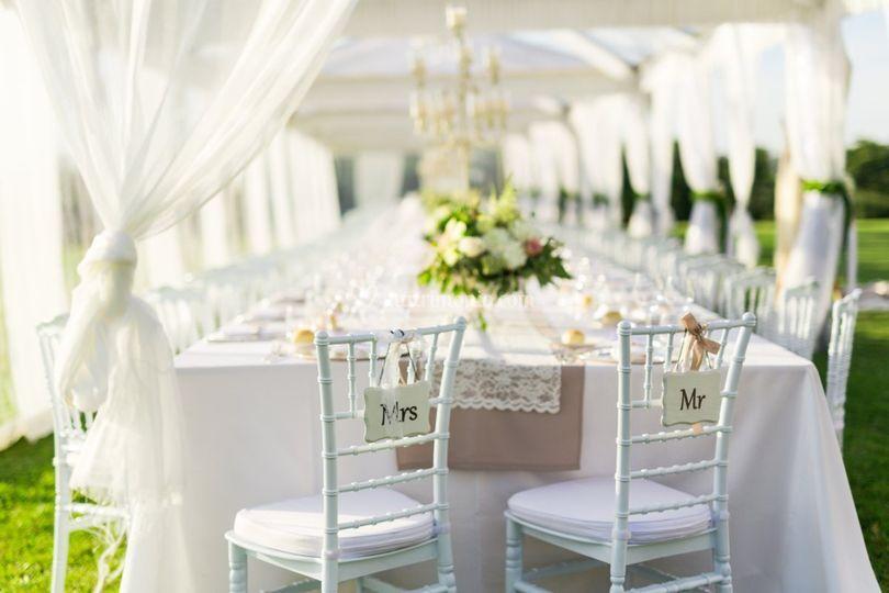Tavolo imperiale white e sand