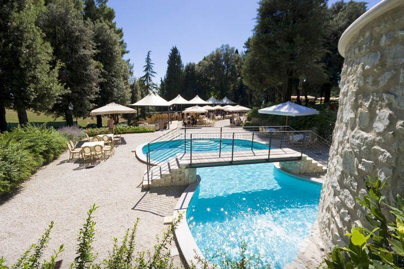 Il gazebo - la piscina