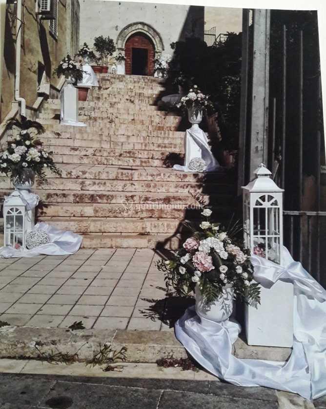 Addobbi scalinata chiesa
