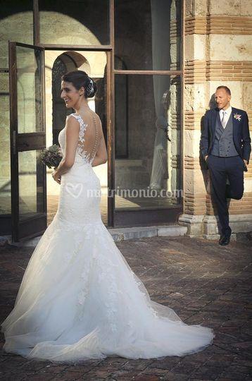 Sposa con abito Pronovias