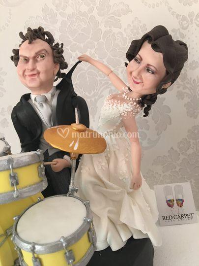 Sugar weddingcake topper