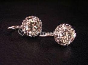 Orecchini in platino con Diamanti
