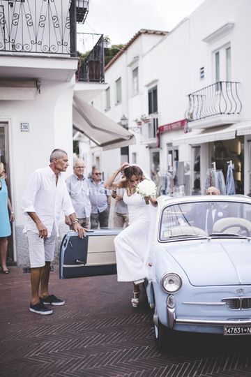 The bride's arrival