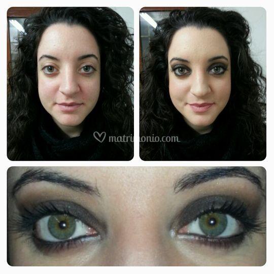Smoky eyes marrone