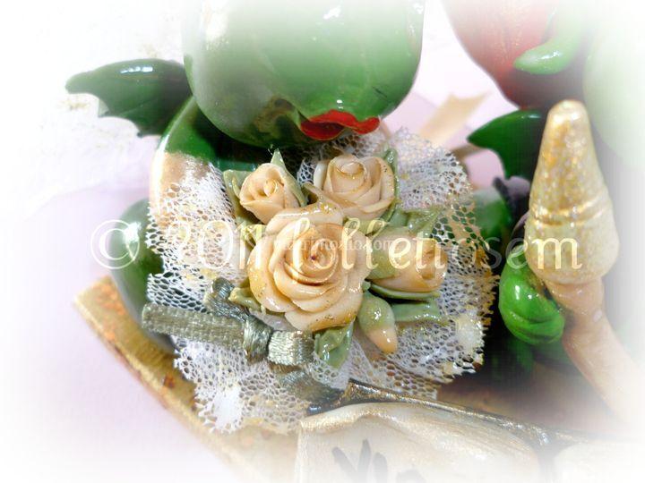Dettaglio bouquet del simpaticissimo cake topper Grisù