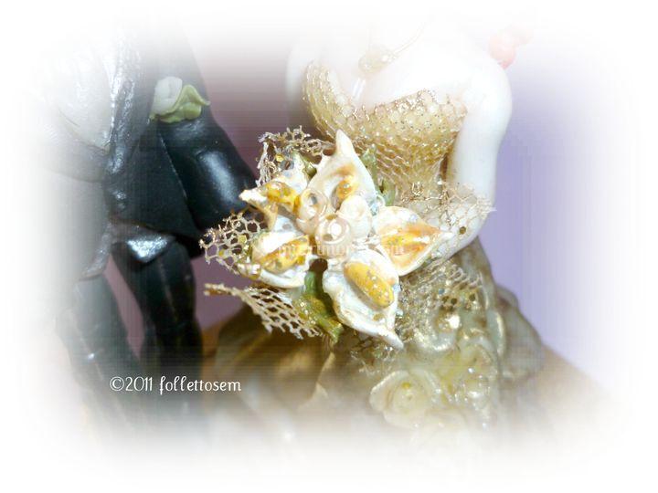 Primo piano bouquet Top cake personalizzato