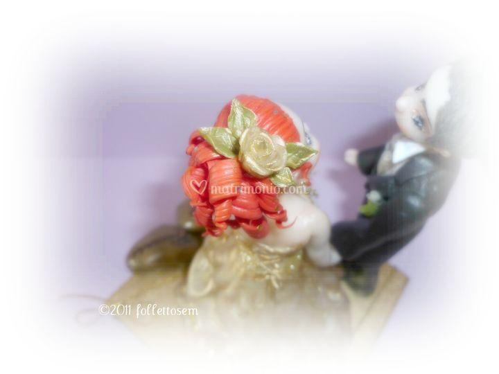 Acconciatura sposa Top cake personalizzato