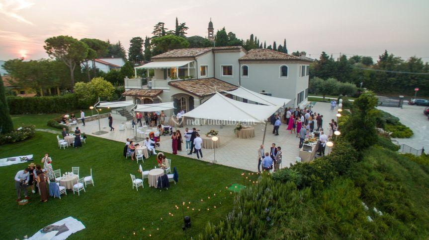 Drone su Villa Malatesta