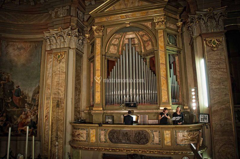 Organo flauto e voce