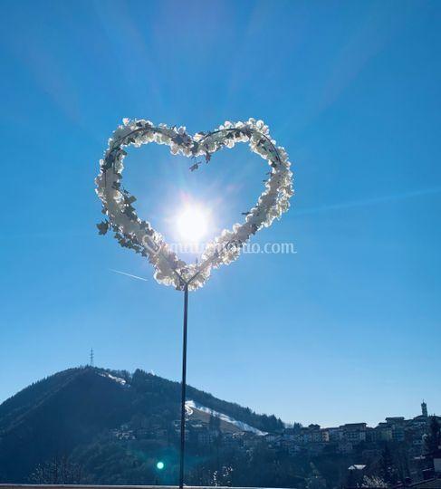 Piantana ferro cuore x fiori