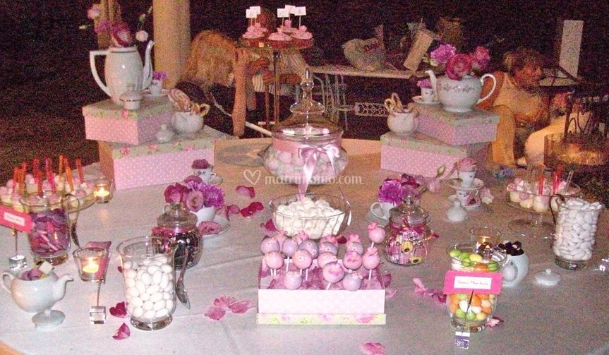 Tavolo degustazione confetti