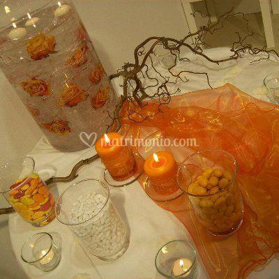Tavolo confetti autunnale