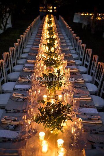 Cena a lume di candele