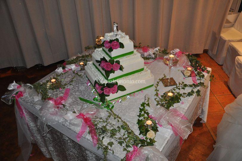 Allestimento tavolo torta