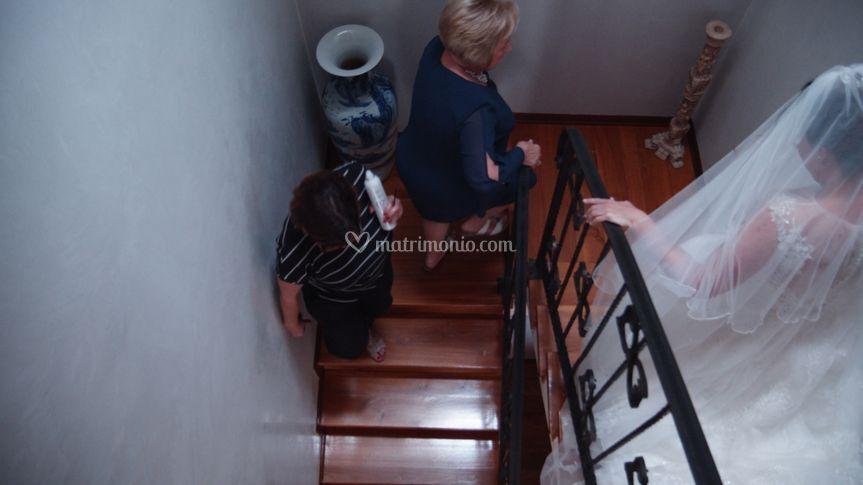 Discesa dalle scale