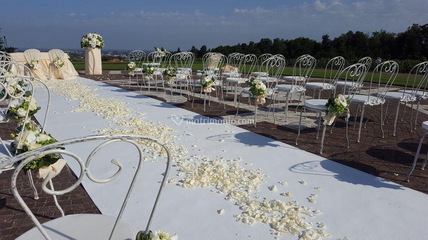 Sedia sissy in cerimonia
