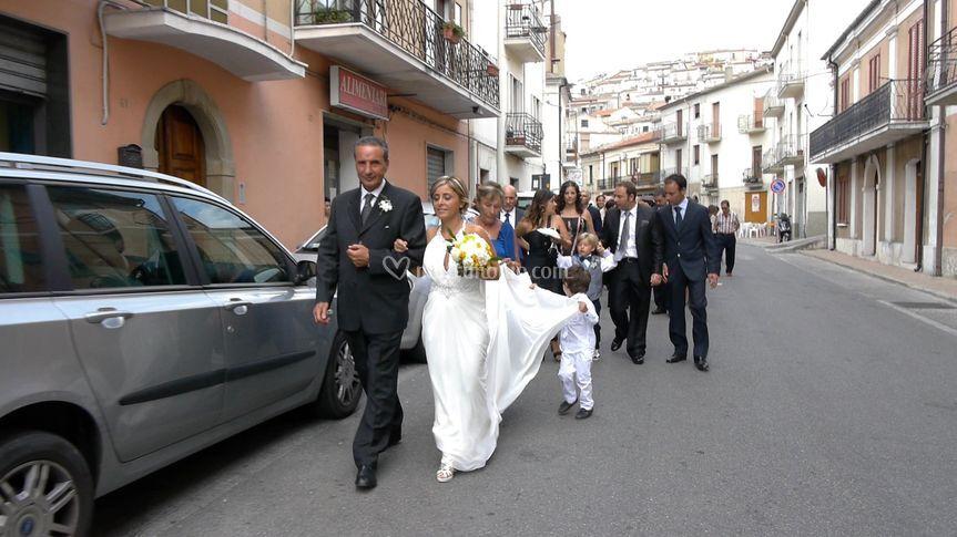 La sposa s'incammina