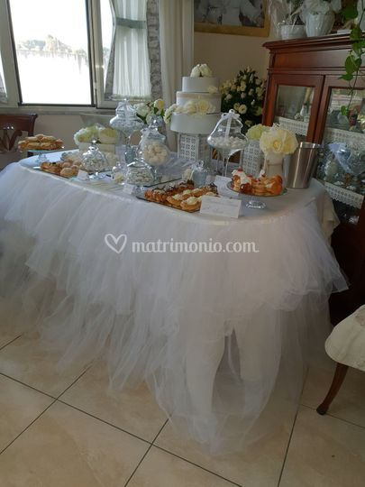 Sweet table effetto nuvola