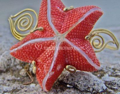Stella marina con oro
