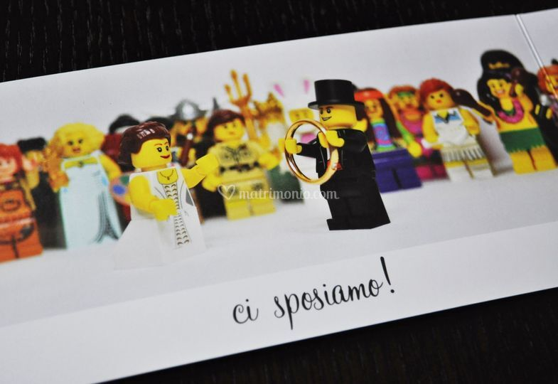 Matrimonio Tema Lego : Partecipazione lego di creativa foto