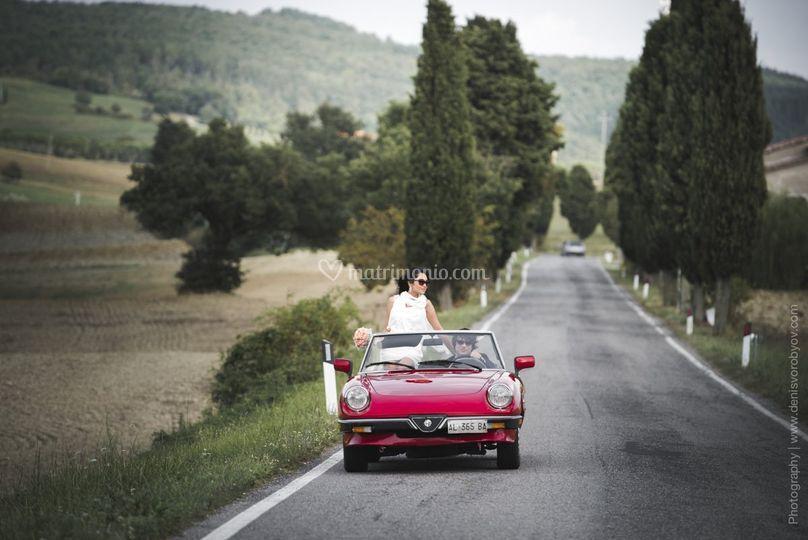 Matrimonio in Toscana - cabrio