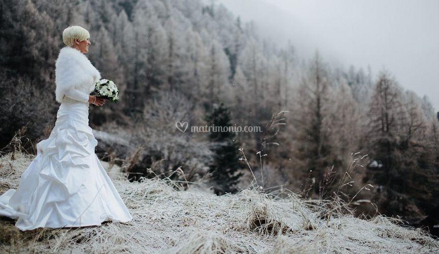 Sposa nella neve Zermatt