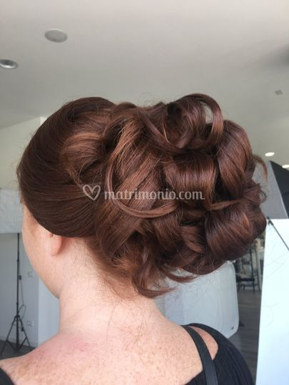 Raccolto capelli lunghi