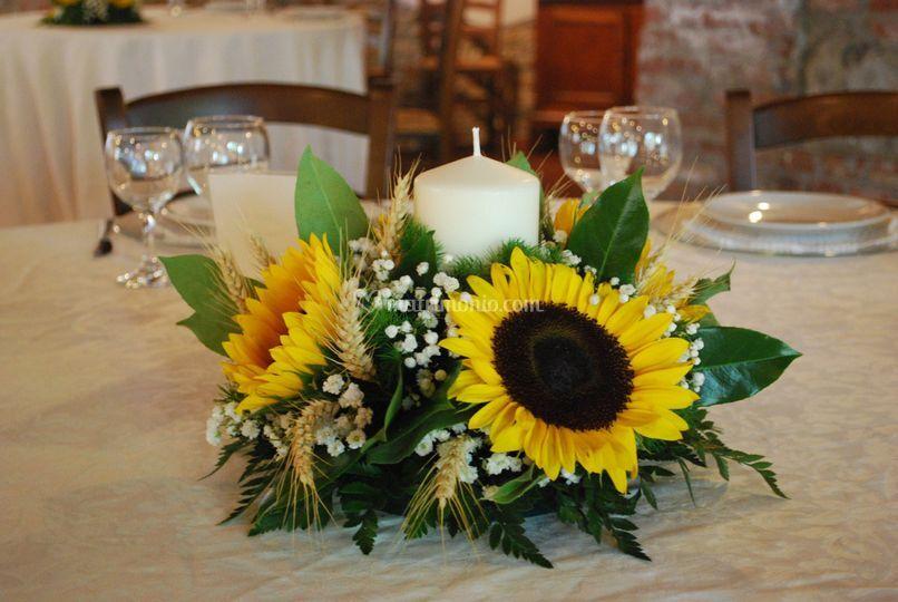 Centrotavola Con Girasoli Matrimonio : La maison des fleurs di marta enei