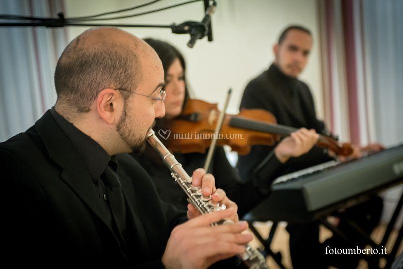 Piano violino e flauto