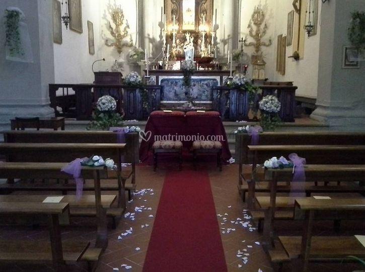 Decorazione nella Chiesa di Fioristi Ghiandai
