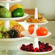 Le alzatine per frutta e dolci