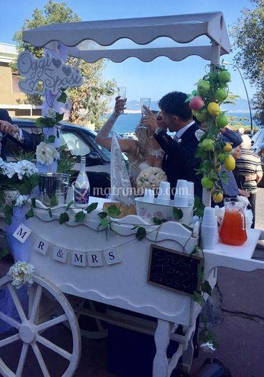 Carretto limonata matrimonio
