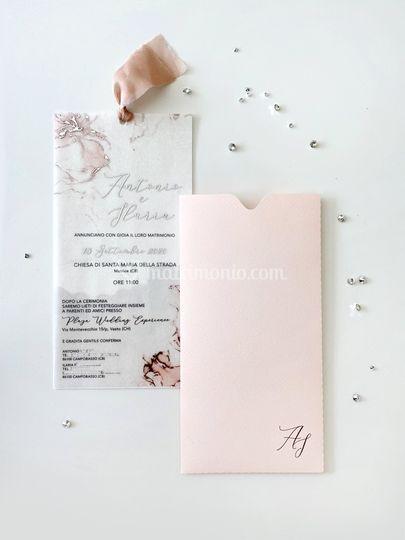 Elegant pink stationery