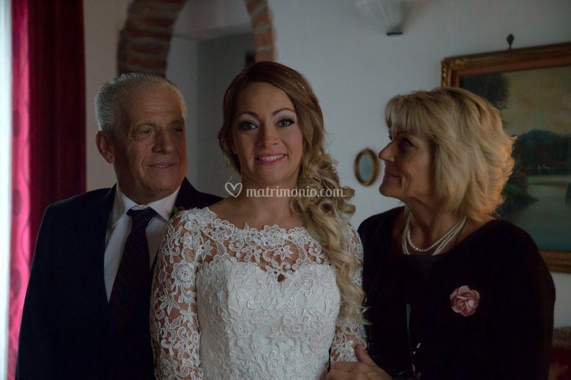 Sposa e genitori