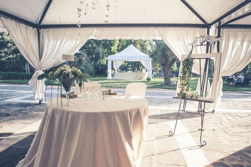 Antiche Terme tavolo sposi