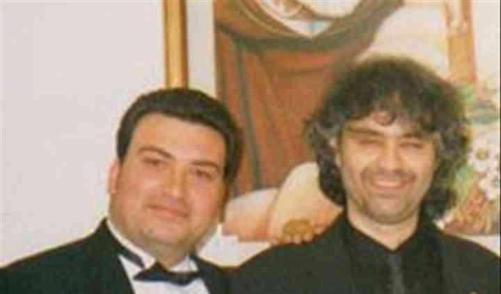 Con Andrea Boccelli