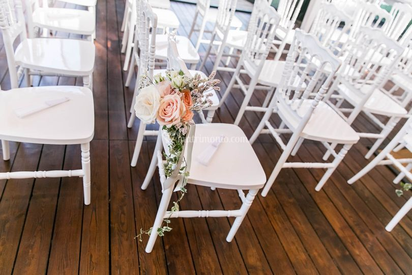 Dettaglio sedie cerimonia