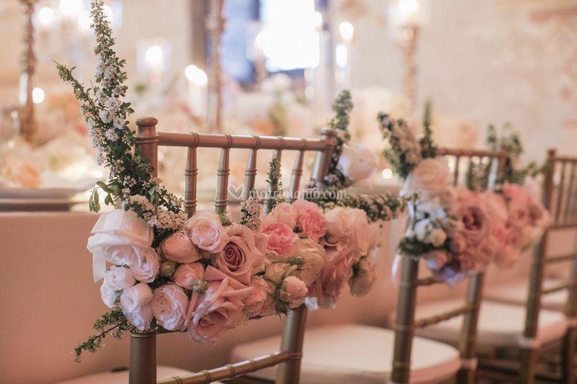 Decorazione sedie sposi